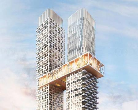 YSL Residences 2 Towers with a Skybridge To Link The Towers 580 Feet In The Air