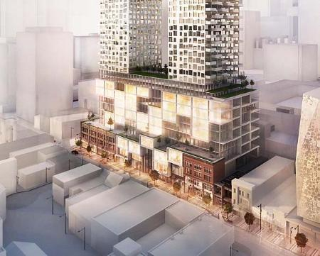 YSL Residences with an 11 storey Podium